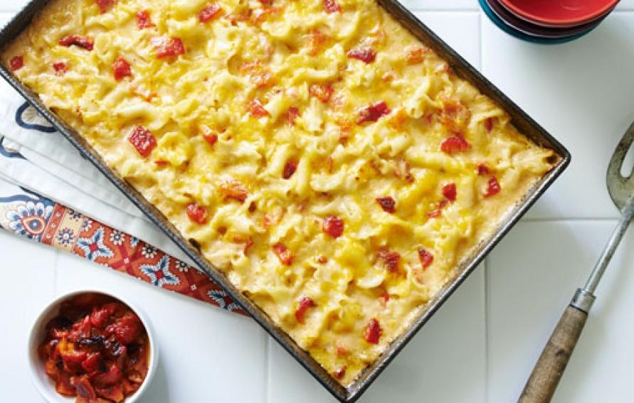creamy pimento mac and cheese